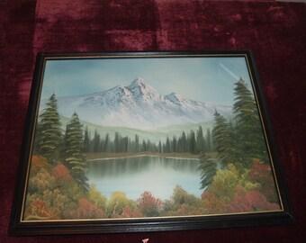 vintage framed painting signed RTW