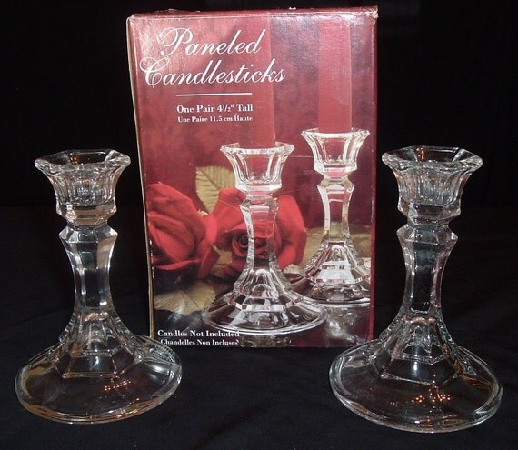 Paneled Candlesticks