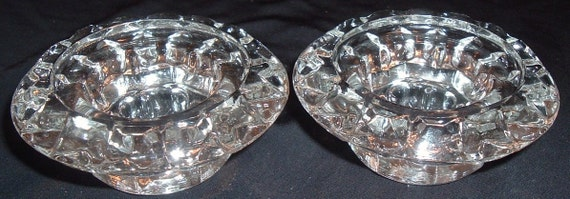 Crystal  Candle Holder Set
