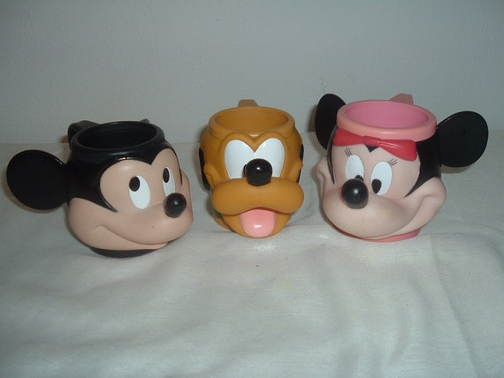 three drink cups from disney