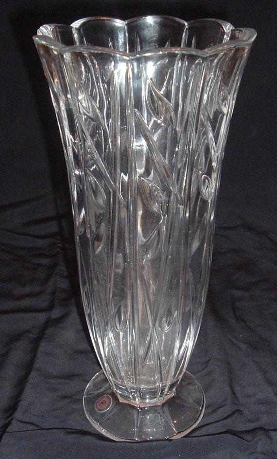 Lead Crystal Floor Vase Made In Germany