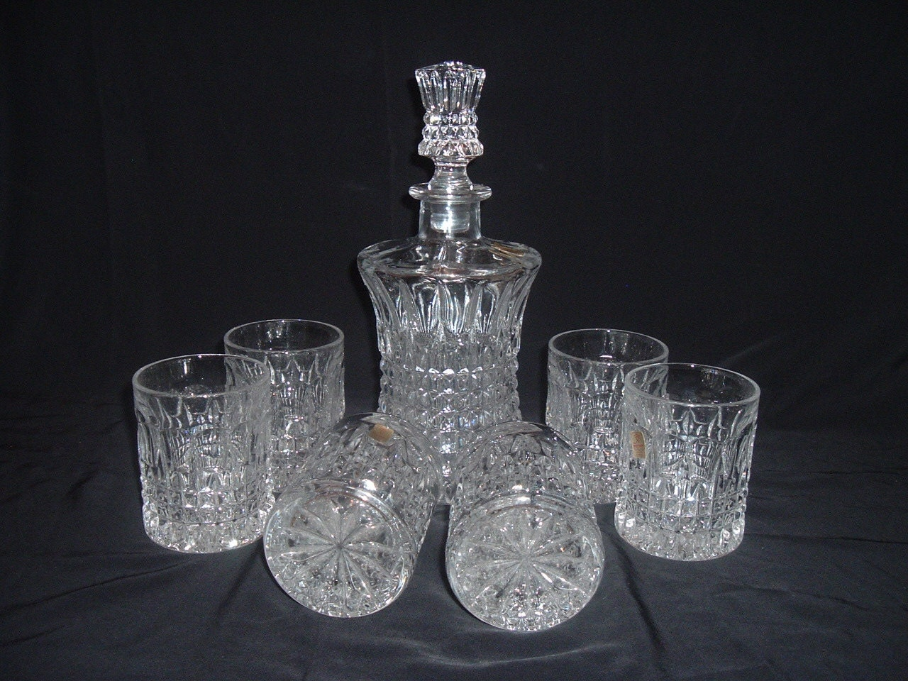 Nachtmann Crystal Decanter With 6 Glasses