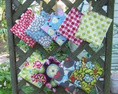 Ten reusable sandwich/snack bags - Reuse sandwich bag - fabric snack bag - You create your own sets from fabrics in this listing