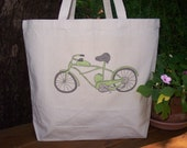 Natural cotton market tote - For the bike lovers