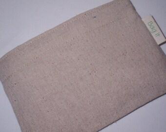 Reusable snack bag - Unbleached cotton snack bag - Reuse snack bag - Fabric snack bag - Plain and simple on natural unbleached cotton