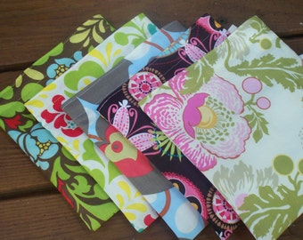 One sandwich and two snack bags - Reusable sandwich bag - Reusable snack bag - YOU CHOOSE the fabric