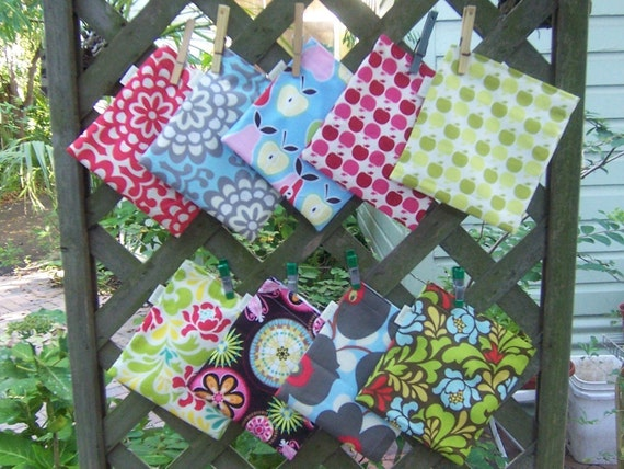 Two reusable sandwich and four snack bags - Reusable sandwich bag - Reuse snack bag -  Your CHOICE of fabrics, create your own sets