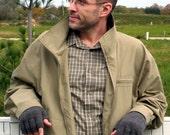 PDF KNITTING PATTERN, Men's Driving Gloves, Fingerless Gloves, Half Finger Gloves, Sizes Small to Extra Extra Large, Digital Download