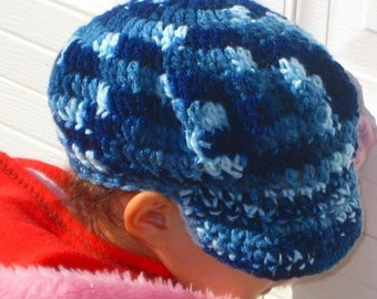 Instant Download PDF CROCHET PATTERN Newsboy Cap Hatband Circumference 17.5 inches fits 1-3 years and 19 inches fits 3-10 years