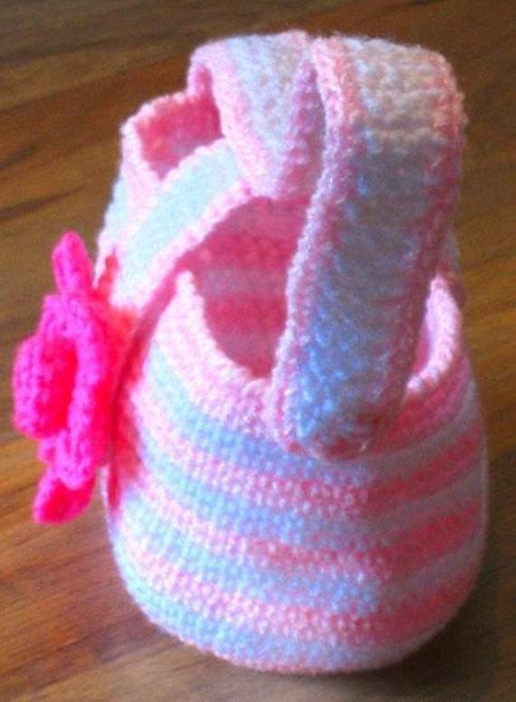 Instantly Downloadable PDF CROCHET PATTERN Toddler Flower Purse Girls Tote Handbag Digital Pattern