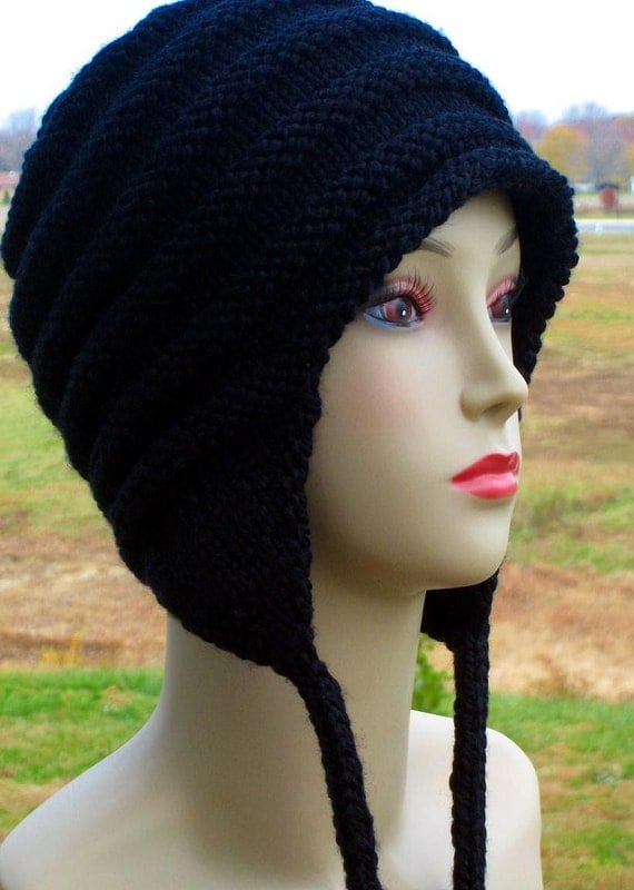 Pdf Knitting Pattern Earflap Cap With I Cord Teen Adult Ear