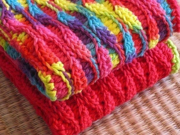 How To Crochet For Beginners Patterns : PDF CROCHET PATTERN Water Waves Textured Dishcloth Dish