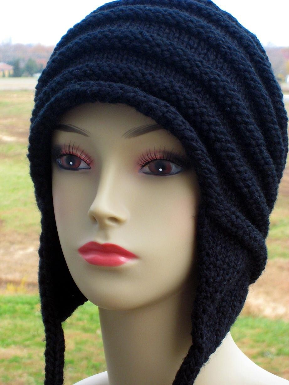 PDF KNITTING PATTERN Earflap Cap with I-cord by ...
