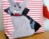 Vampire Bunny pochette - Bunnicula - Halloween - fermeture éclair - Fame & crocs