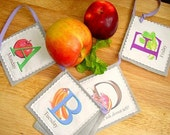 Healthy Snack Breakdown Illustrated ABC Banner Bunting Fabric Swag