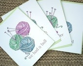 Knitters' Fun Notes Eco Friendly Puns Thank You Suppliers Teachers Friends Get Well Gift