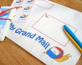 Grand Parents' Snail Mail Bag gift set cards stickers for Grand Child
