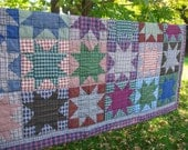 Quilt Star Pattern Patriotic Plaid Country Chic