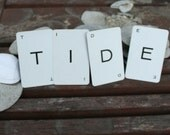 tide home decor vintage game card letters typography