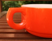 neon orange retro soup mug vintage