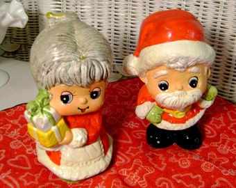 Mr. and Mrs Santa Claus vintage banks in VGVC Save for gift shopping :)