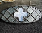 Handmade Barrette in Cross design