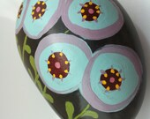 Lollipop Flower Stone Paperweight Ready to Ship