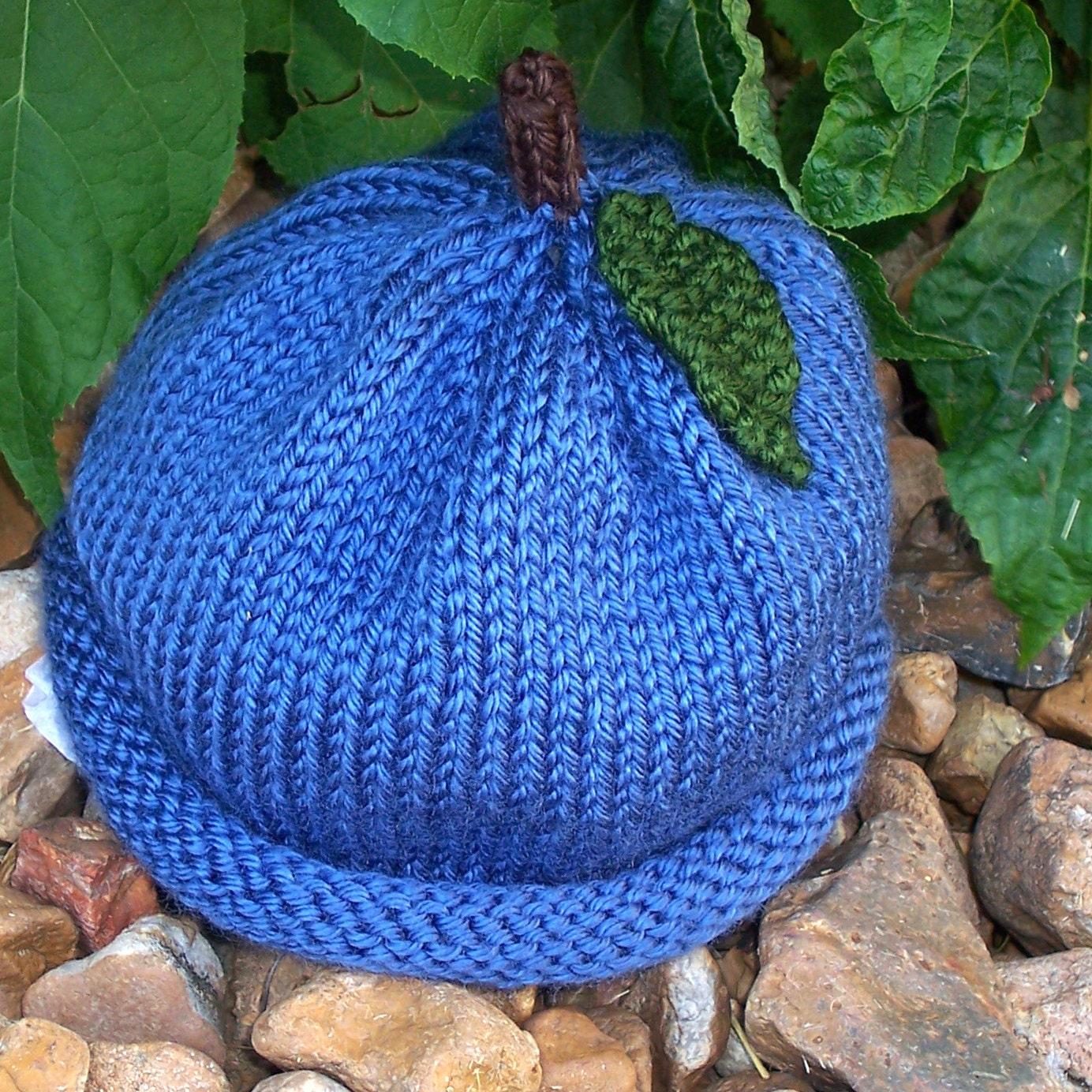 PATTERN Blueberry Knit Baby Hat