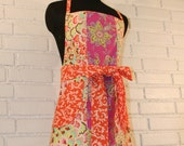 Pink and Orange Full Length Apron