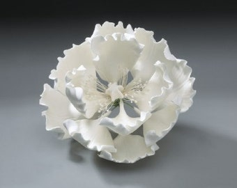 2 Peony Gum Paste Flower for Weddings and Cake Decorating