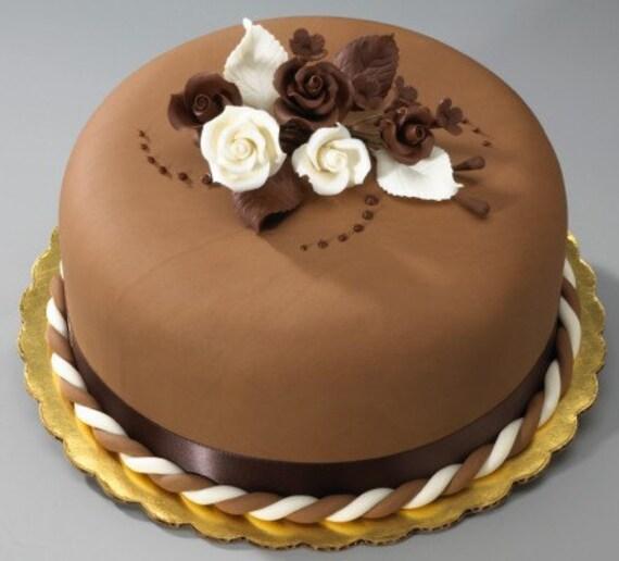 Cake Decorating Chocolate Flowers : 2 Sets of Chocolate Rose Gum Paste Flower Sprays for Weddings