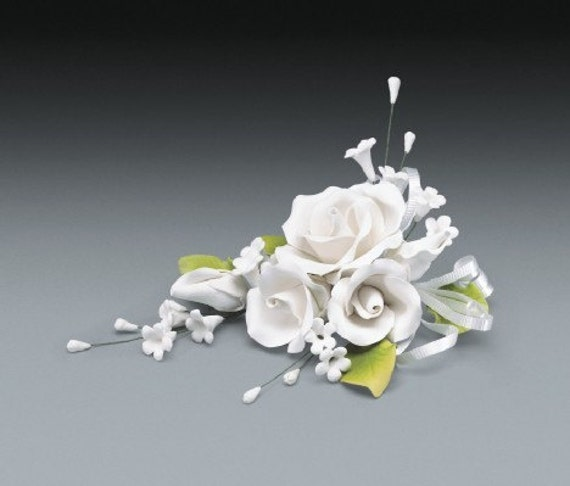 2 sets of white rose gum paste flower spray for weddings and for Flower sprays for weddings