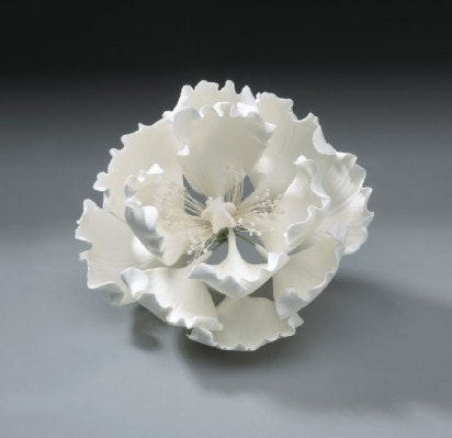 Peony Gum Paste Flower for Weddings and Cake Decorating