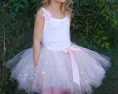 14k Pink Gold Flower Girl Tutu, Birthday Tutu, pink tutu, gold tutu, easter, photography prop, valentines day