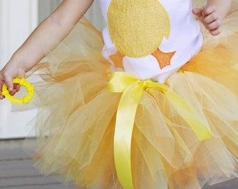 Chick-a-dee Tutu, little chick costume, Halloween, Easter Tutu, Orange, Yellow, Little Chick, First Halloween