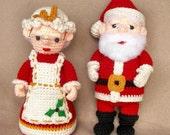 Santa and Mrs Claus - Crochet Pattern