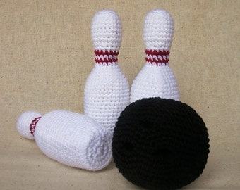Bowling Game Set -  Crochet Pattern