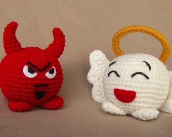 Angel and Devil Chubbies -  Crochet Pattern