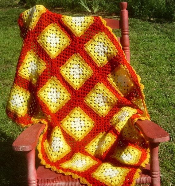 High Tea  Crochet Throw Blanket - PDF Pattern