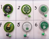 TOP Only**St. Patricks Day Badge Reel Tops  *PICK one*