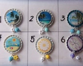 TOP Only**Beach and Flowers Interchangeable Badge Reel Tops  *PICK one*
