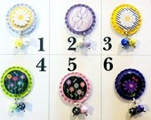 TOP Only**Flowers Interchangeable Badge Reel Tops  *PICK one*