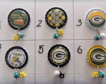 Green Bay Packers Badge Reel Tops  *PICK ONE*