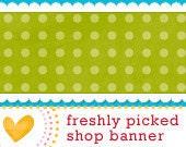 Premade Etsy Banner // Signed Sealed Delivered // Light Green