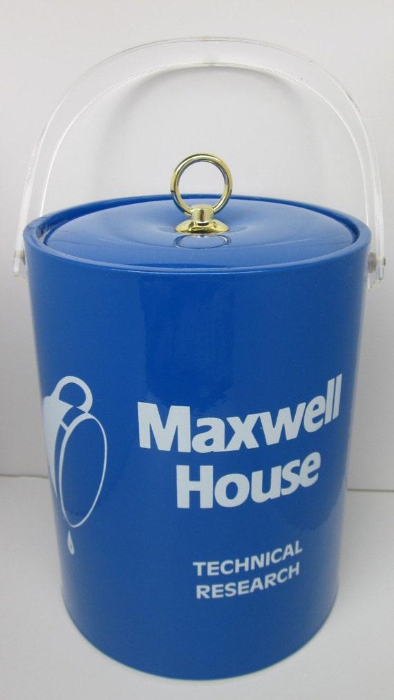 Vintage Rare MAXWELL HOUSE COFFEE Ice Bucket - New Vintage