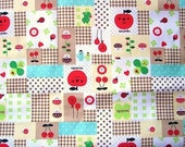 Cute Japanese Cotton Fabric - Decole - Decolello - Smiling Apple And Clover (F357)