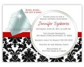 Bling, Bling Ring Bridal Shower or Bachelorette Invitation (You Print)