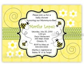 Bumble Bee Baby Shower Or Birthday Invitation Girl Or Boy Neutral  (Digital File)
