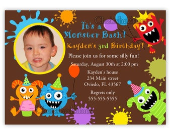 Little Monster Bash Invitation (Digital File)