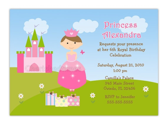 Prinzessin Schloss Geburtstag Einladung Zur Wahlen Sie